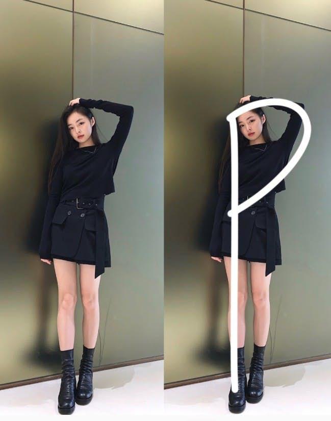 字母拍照Pose:P型