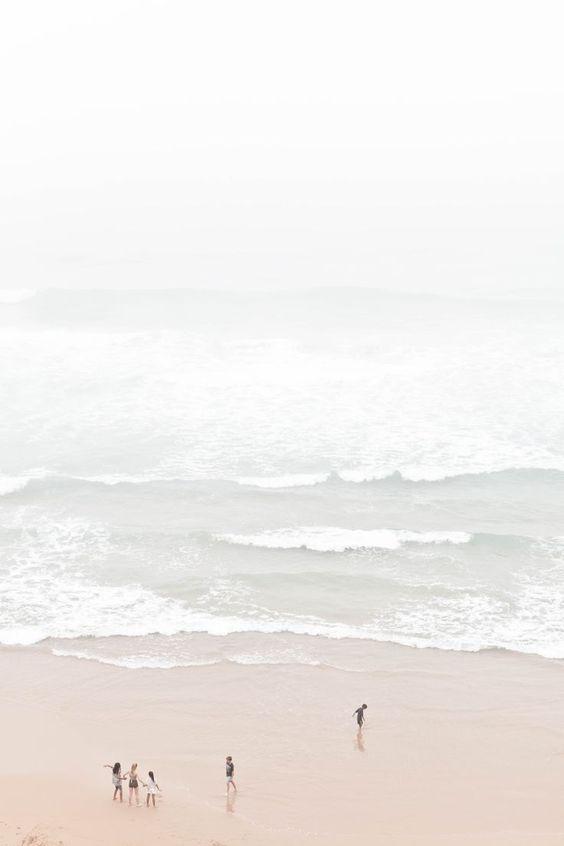 治愈系:【韩风Wallpaper · 天空、大海桌布】想念大海和海浪