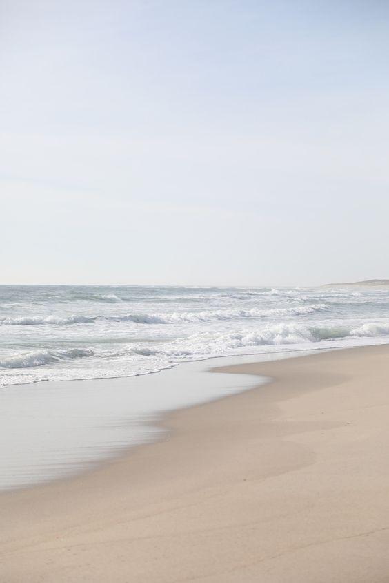 治愈系:【韩风Wallpaper · 天空、大海桌布】超治愈的沙滩海浪