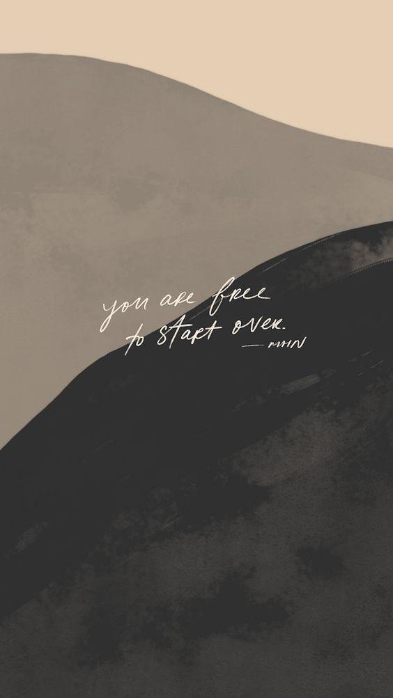 You are free to start over. 人生没有所谓「太晚的开始」;重新开始,永远来得及!