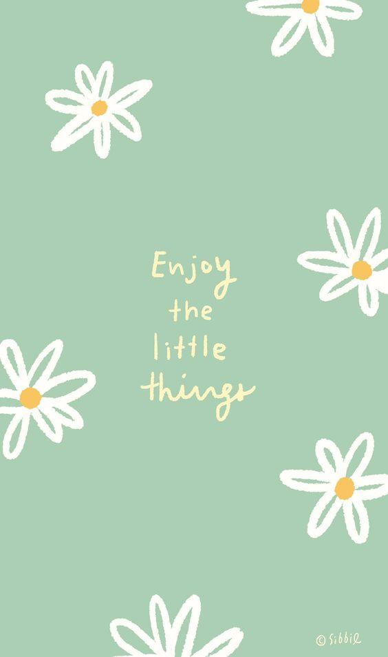 励志语录手机桌布Wallpaper:幸福与美好,经常就藏在我们三餐四季中的各种平凡小事里,只是你没发现而已~」