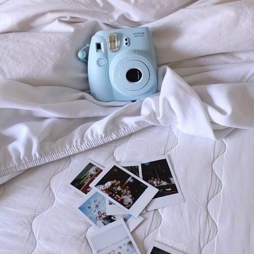 baby blue camera