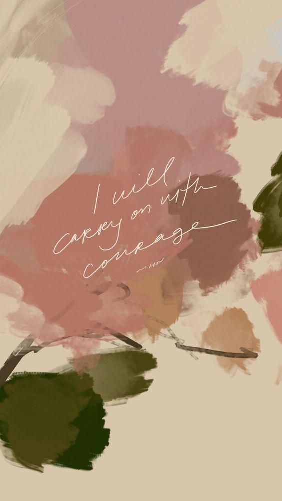 「I will carry on with courage. 即便重头再来也要有勇气,继续带着希望和光芒前进;走过艰难的光景,你终会遇见闪闪发光的自己~」