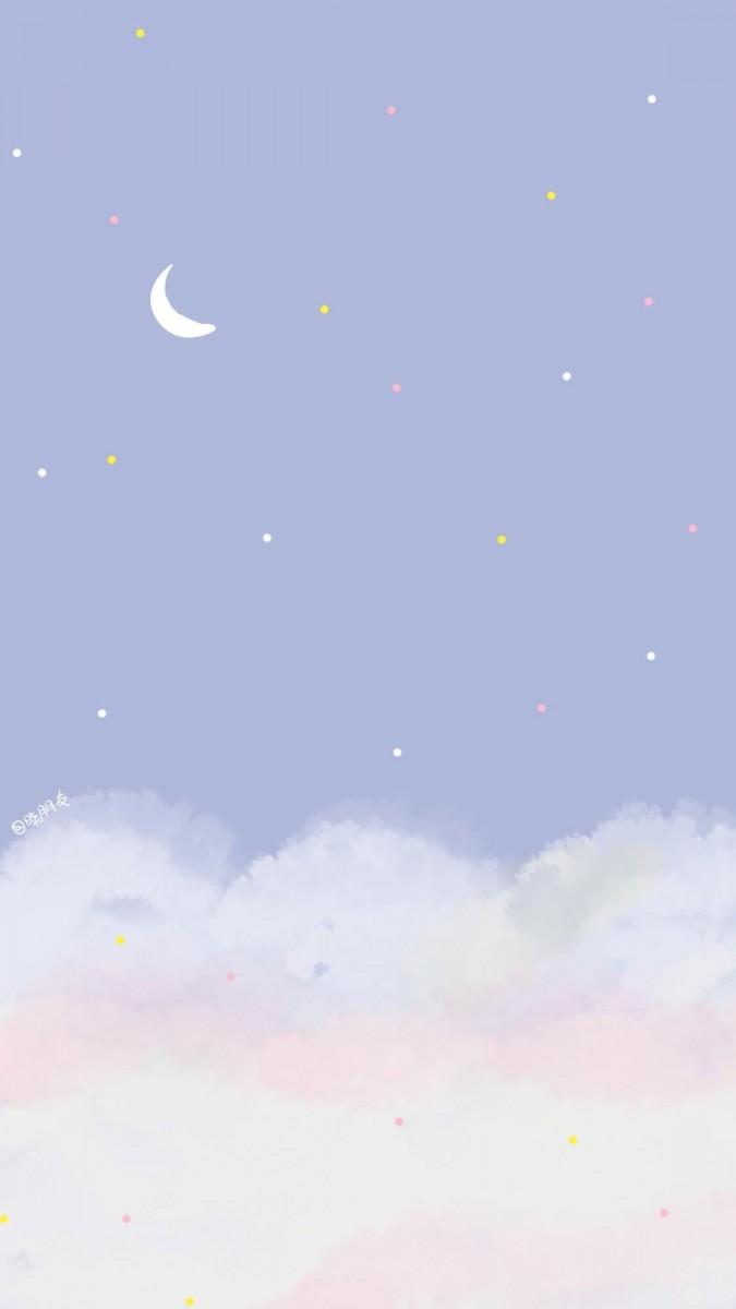 ✨ 韩系意境风格手机Wallpaper | # 错过落日余晖,别怕··· 还有满天星辰啊!