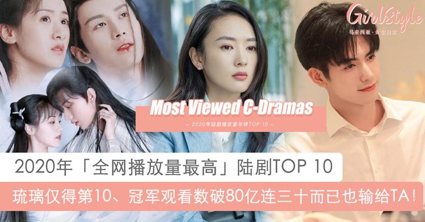 2020全网播放量最高陆剧TOP 10:琉璃竟只得第10名、「冠军」观看数破80亿!